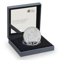 Großbritannien - 2 GBP Lunar Hahn 2017 - 1 Oz Silber PP