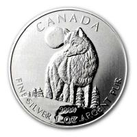 Kanada - 5 CAD Wildlife Serie Wolf 2011 - 1 Oz Silber