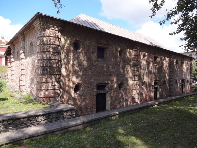 Gebäude des unteren Lebensmittellager