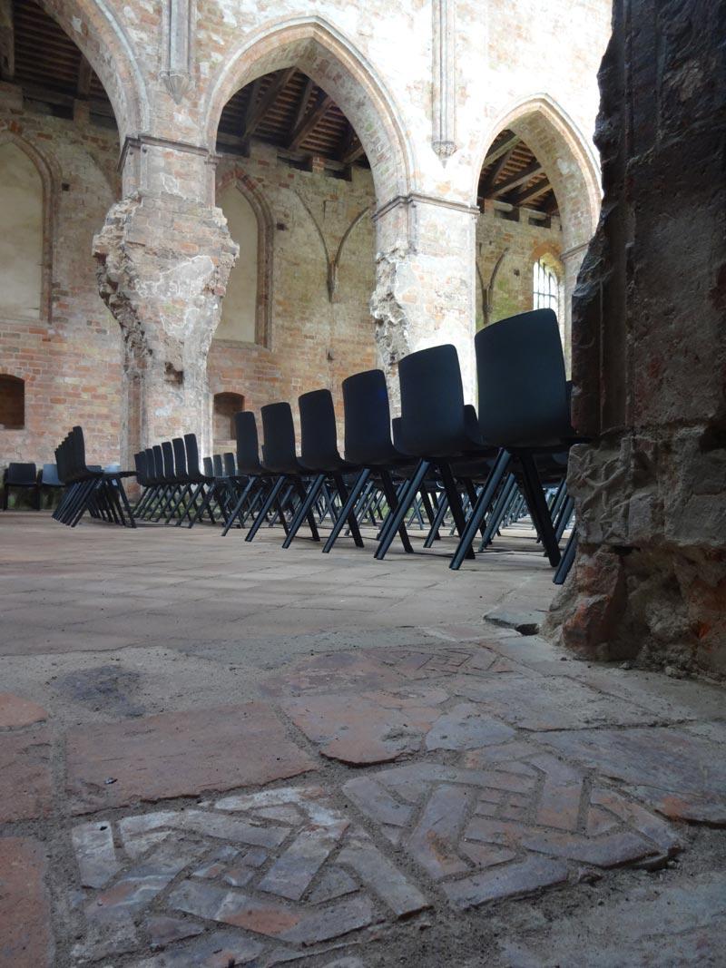 Fliesenpflaster der Kirche - Kloster Chorin