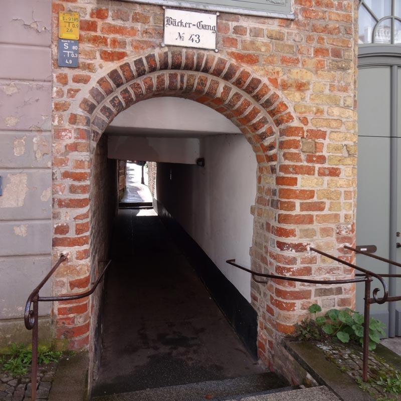 Bäcker-Gang Nr. 43 - Eingang